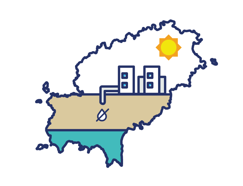 Isla en Sequia